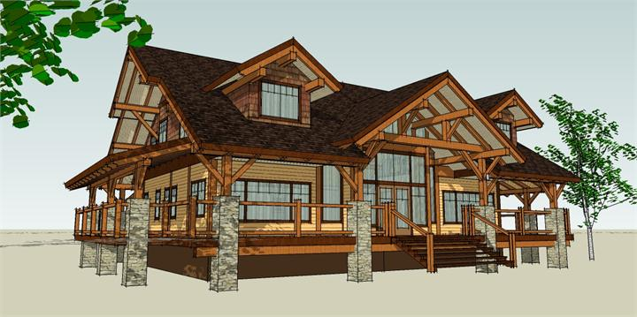 Harrison design custom building design for Timber framed house plans
