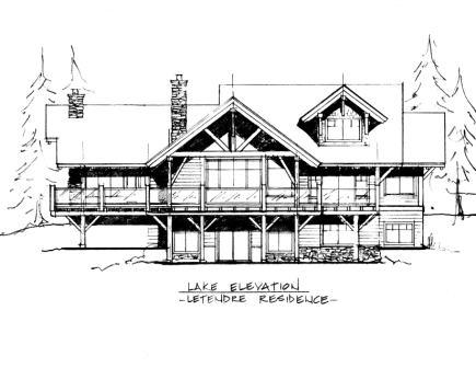 Timothy Lake Timber Frame Sketch Design