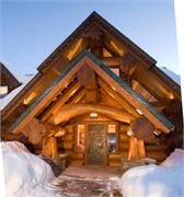 Colorado Log Home Entry