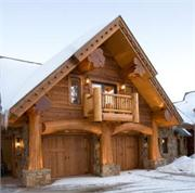 Colorado Log Home Garage
